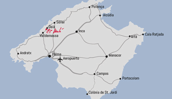 Location hotel Es Moli Deia Majorca How to get to the boutique